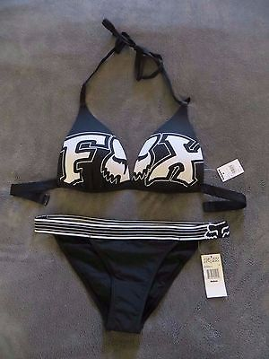 FOX Racing Women's Flash Push Up Bikini Top & Bottom SET! NEW w/tags, Size M