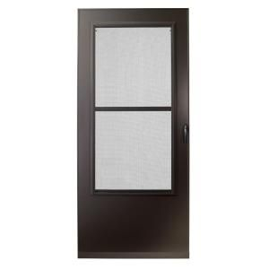 $148 200 Series 30 in. Bronze Aluminum Triple-Track Storm Door with Black Hardware-E2TT-30BZ at The Home Depot