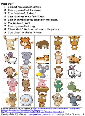 Following Directions: Following Written and Verbal Instructions Can Be a Fun Activity - Pinned by @PediaStaff – Please Visit http://ht.ly/63sNt for all our pediatric therapy pins Email ThisBlogThis!Share to TwitterShare to Facebook