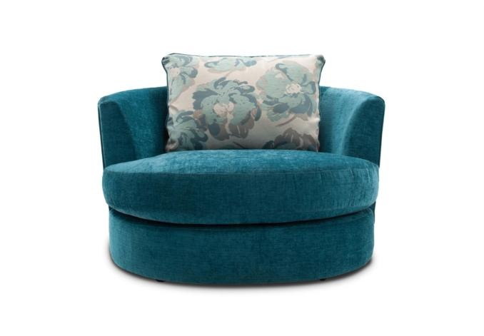 Teal swivel chair ~ Furniture Village