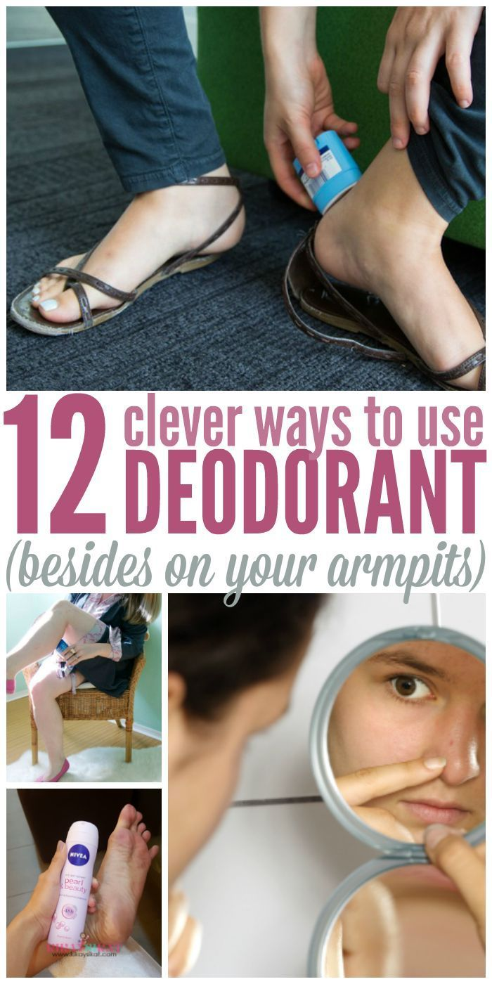 What clever uses for deoderant! - One Crazy House                                                                                                                                                                                 More