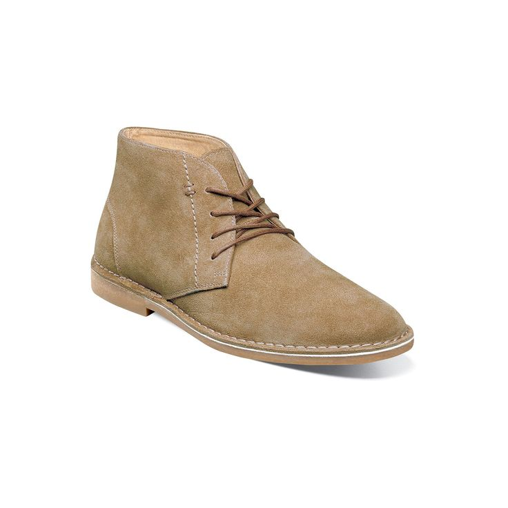 Nunn Bush Galloway Men's Suede Chukka Boots, Size: medium (11.5), Beig/Green (Beig/Khaki)