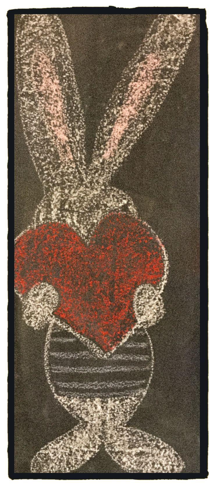 #Easter #bunny #chalkboard