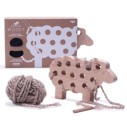 Fantastic New Wooden Toy, Great for 4+, Coordination Eye-Hand, Knitting Game, by Les Jouets Libres, Wooden Toy.