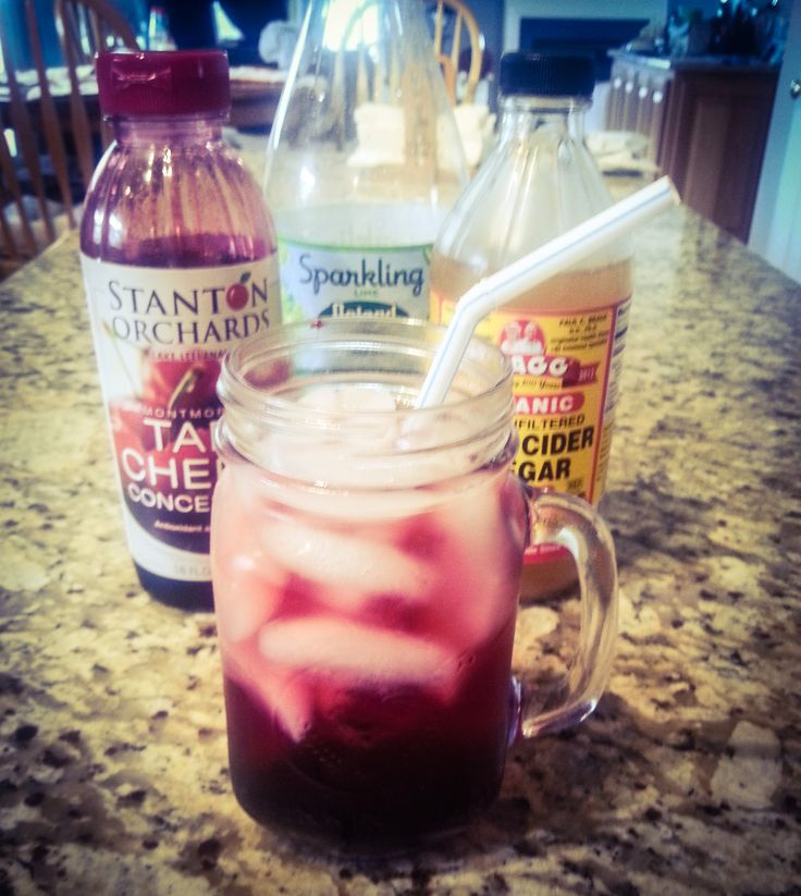 Tart Cherry Sparkler - Tart Cherry Juice is great for arthritic relief and inflammation!
