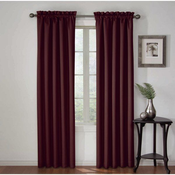 Roger Solid Blackout Thermal Rod Pocket Single Curtain Panel