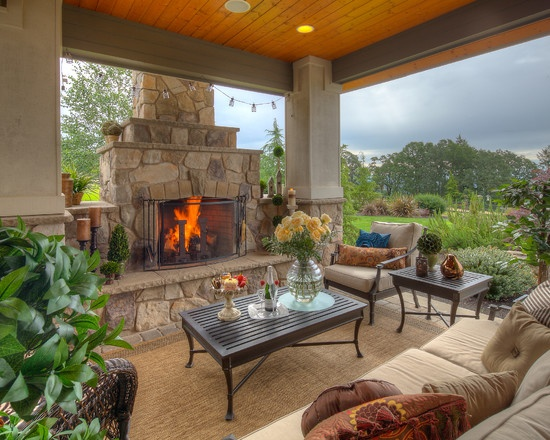 17 best images about backyards on pinterest covered for Outdoor rooms with fireplaces