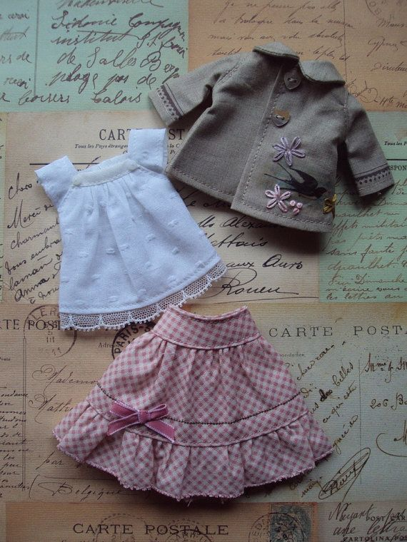 Spring Outfit Set for Blytheswallow par moshimoshistudio sur Etsy