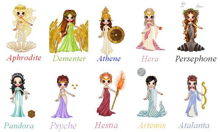 Women of Greek Mythology by !sofie111 perfect ideas for roman themed renaissance