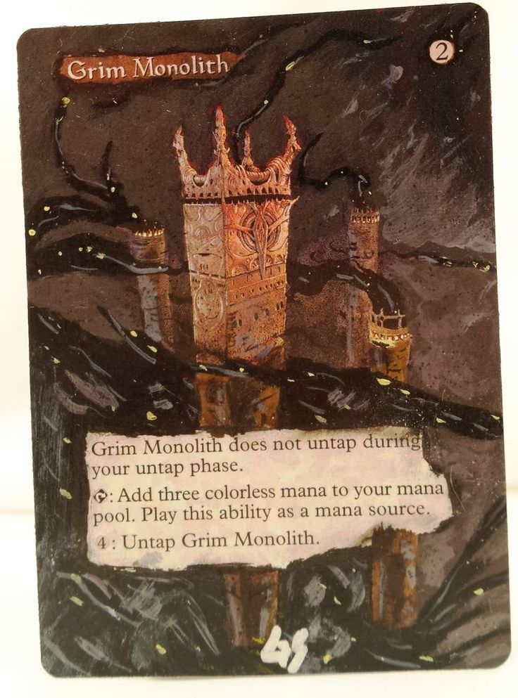 Grim Monolith World Champs MTG Magic Altered Art Custom Sexy Pimp OOAK OOP #WizardsoftheCoast