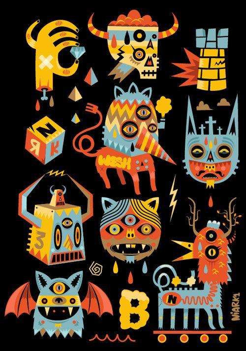 #Illustration #9 by Seb NIARK1 FERAUT, via Behance