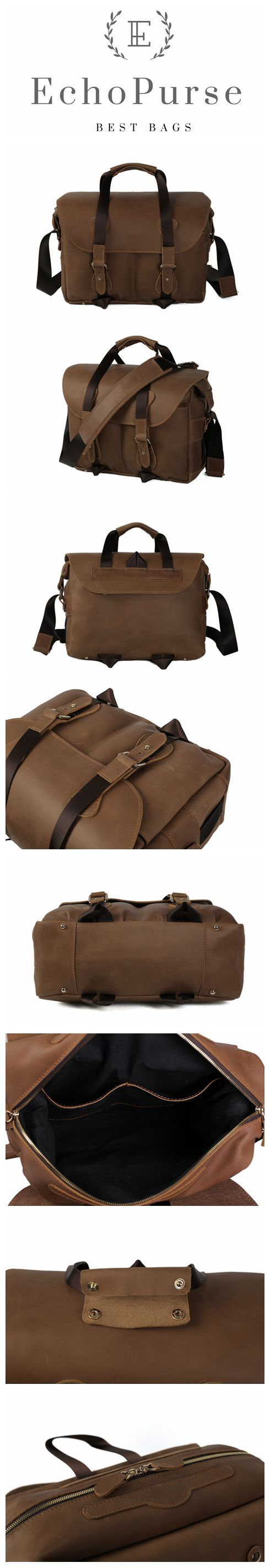 Genuine Leather DSLR Camera Bag, Professional Camera Pouch, Messenger Bag D220