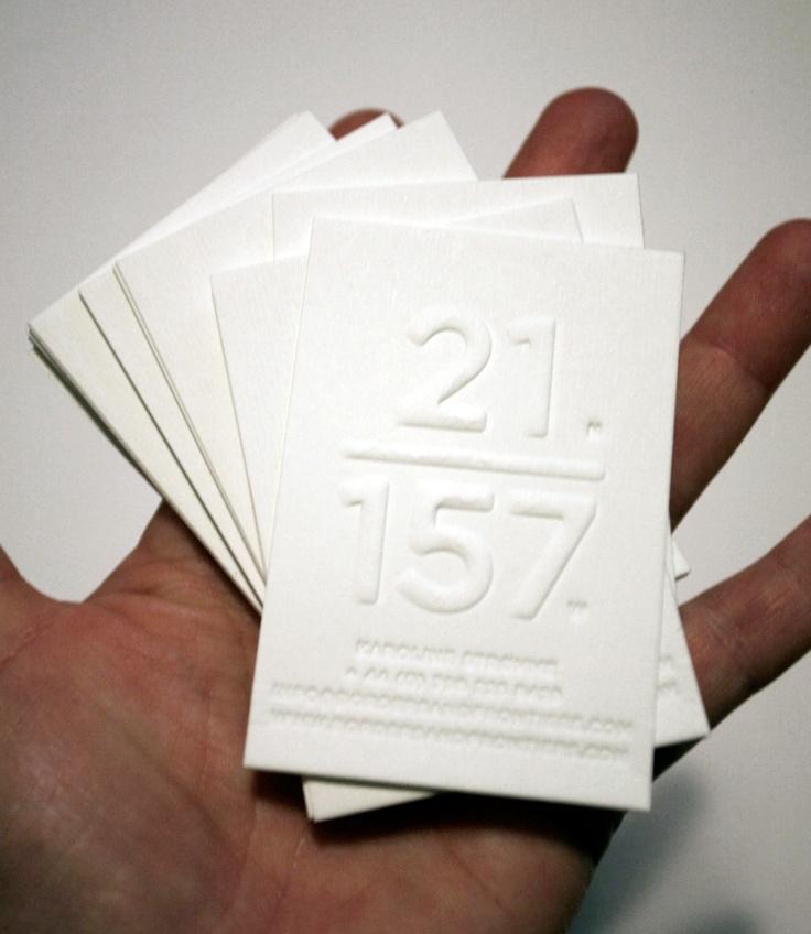 B+F / Work In Progress / Coordinate Cards Blind Embossed & Debossed