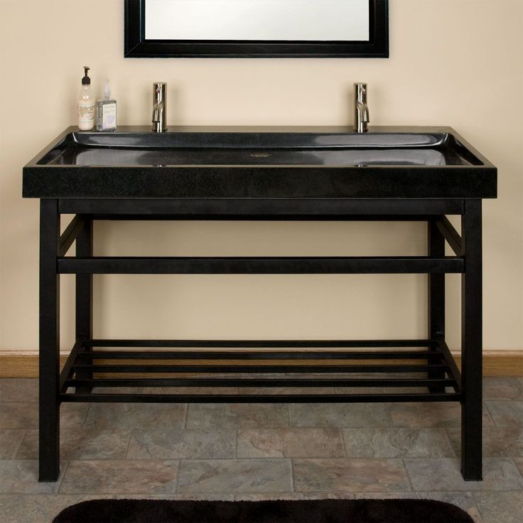 Images Of  Art Deco Double Undermount Console Sink Pedestal Sink BathroomKohler