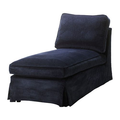 Chaise at Ikea: Ektorp Cover, Chaise Lounges, Blue Ektorp, Living Room, Free Standing Chaise, Cover Free Standing, Vellinge Dark, Dark Blue, Ektorp Chaise