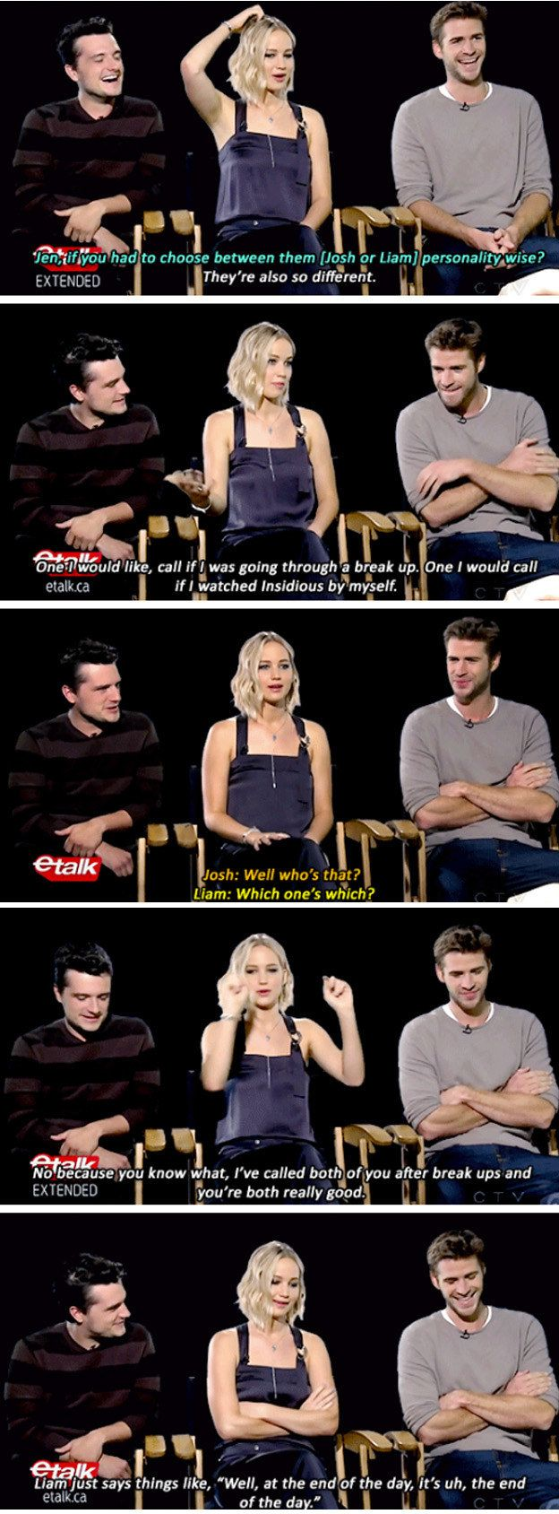 best ideas about jennifer lawrence interview jennifer lawrence josh hutcherson and liam hemsworth prove true friendship love exists