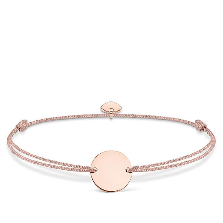 Ernest Jones: Thomas Sabo Little Secret Rose Gold-Plated Disc Bracelet £49