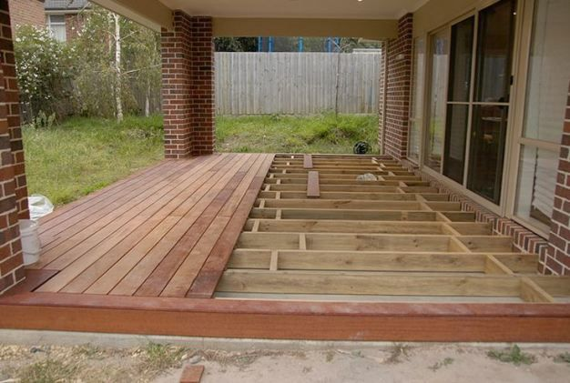 Building A Floating Deck Over Concrete Slab (awesome Building Deck .