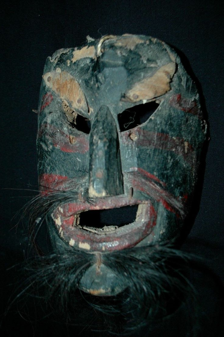 Antique Guatemalan Dance Mask Mayan Viejo Verde 3B Viejito Baile Real Hair | eBay