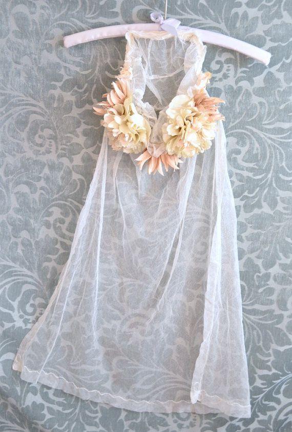 1920s floral veil, vintage wedding accessory, juliet cap veil, bridal headpiece, hair accessories on Etsy, $120.00