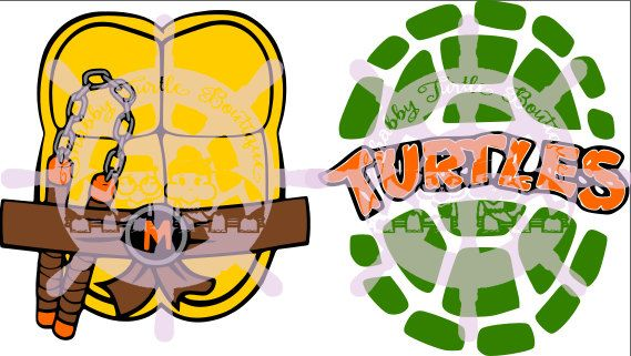 SVG Teenage Mutant Ninja Turtle Shell 2 by ShabbyTurtleDesigns