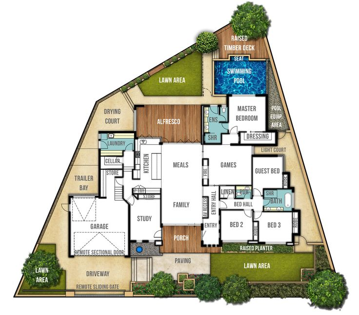single storey home design plan the carine by boyd design perth - Home Design Floor Plans