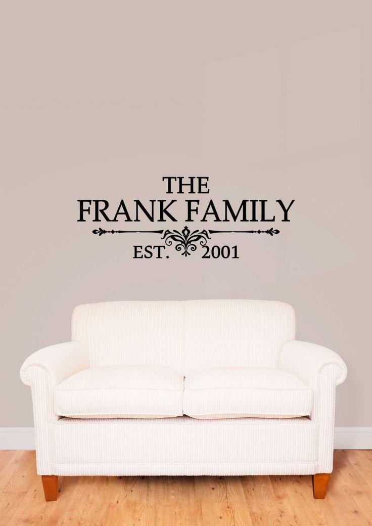 custom family last name vinyl decal family vinyl wall art decal family name vinyl
