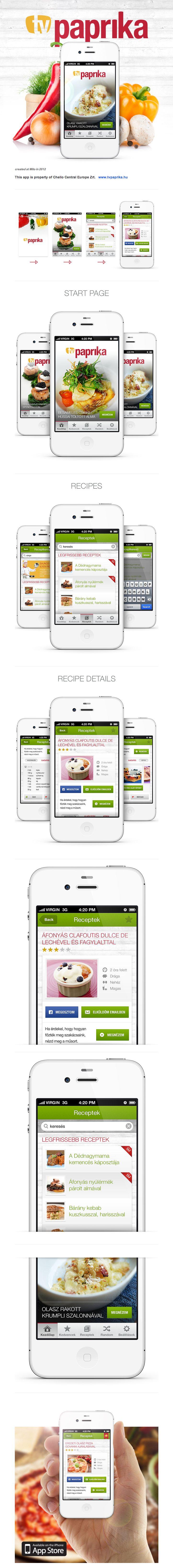TV Paprika iPhone application by Gabor Jutasi, via Behance