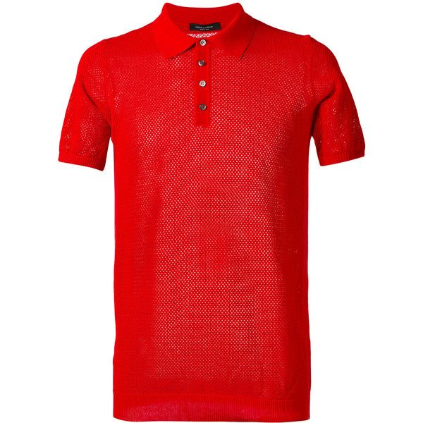 Roberto Collina plain polo shirt (385 BRL) ❤ liked on Polyvore featuring men's fashion, men's clothing, men's shirts, men's polos, red, mens red polo shirt, mens polo shirts, men's cotton polo shirts, mens red shirt and mens cotton shirts