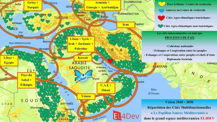 Vision 2040 – 2050 dans le futur grand espace méditerranéen EL4DEV (Europe du Sud, Afrique du Nord, Sahel, Corne de l'Afrique, Moyen-Orient)