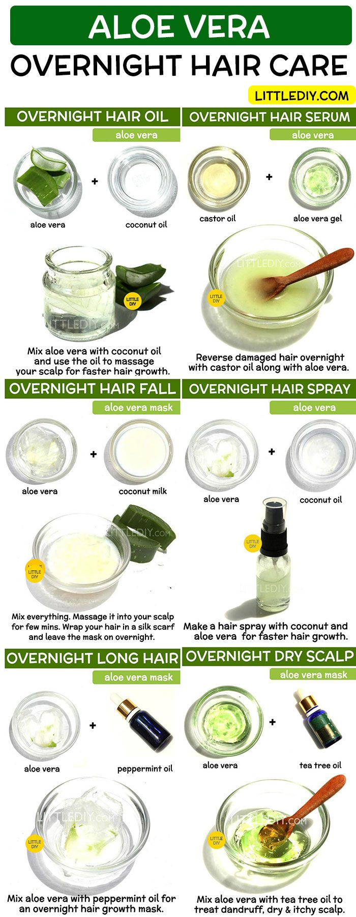 OVERNIGHT HAIR REMEDY WITH ALOE VERA