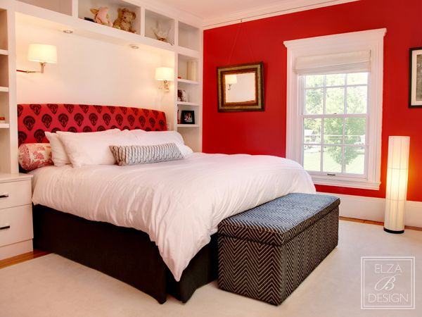 Red Wall Decor Bedroom