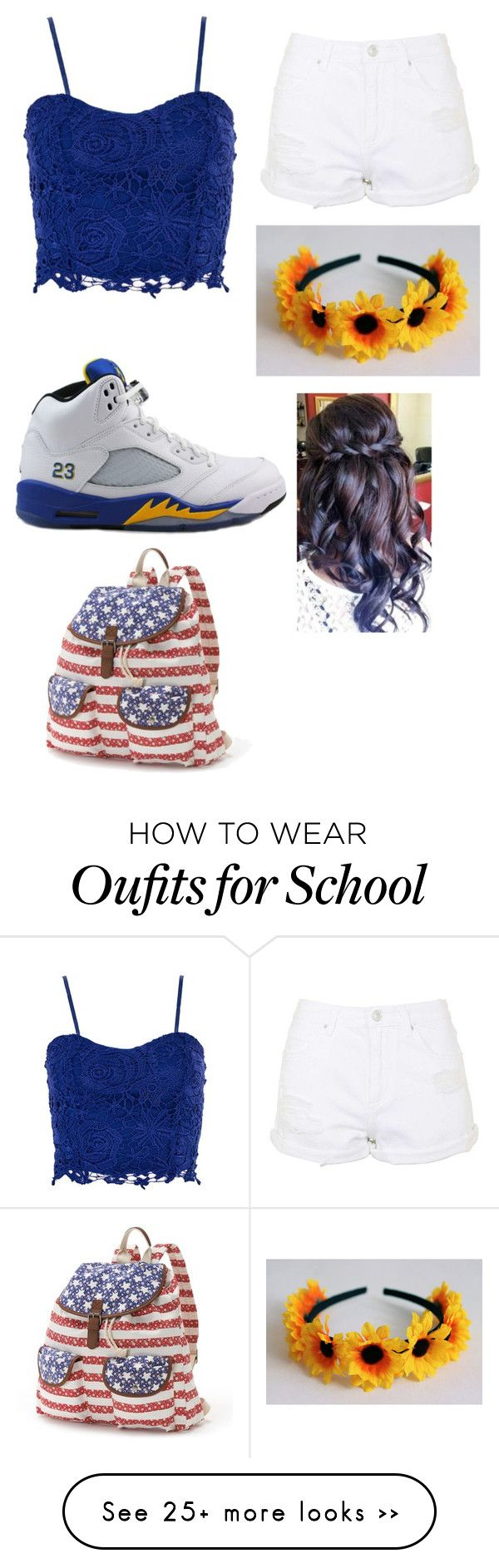 """Summer school"" by pelopsirby on Polyvore featuring Dorothy Perkins, Topshop and Candie's"
