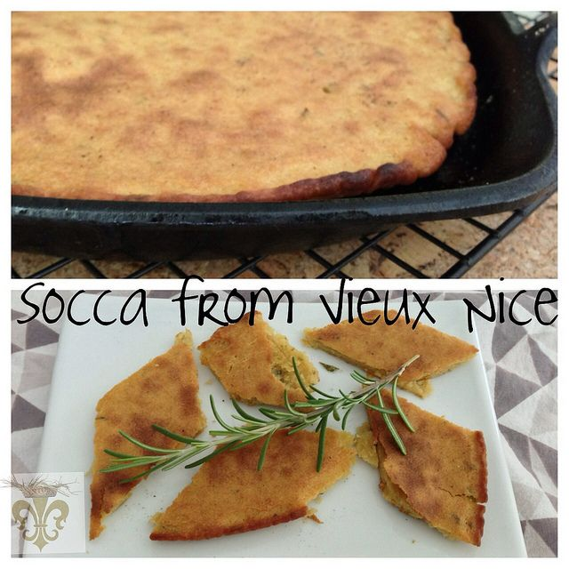 French Fridays with Dorie: Socca from Vieux Nice Chickpea flatbread baked in a screaming hot cast iron skillet.