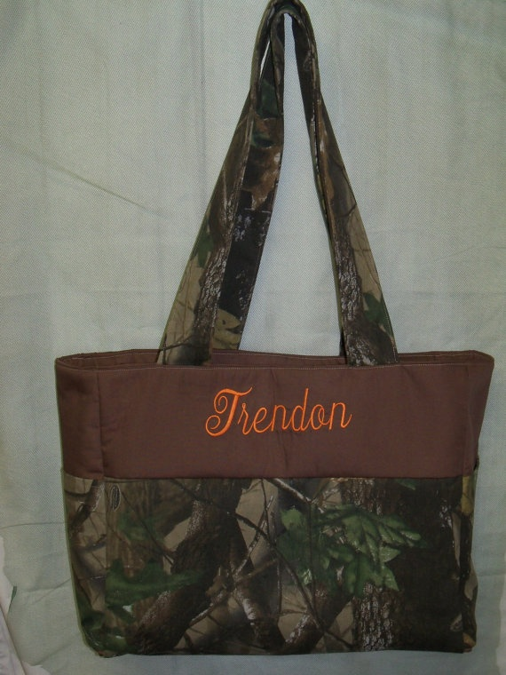 Camo Diaper Bag  Monogrammed  Large  Travel  by SonshineCreations3, $55.00