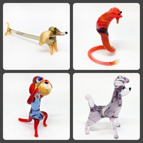 Monkey Collectible Miniature Figurine Blown Glass Animal