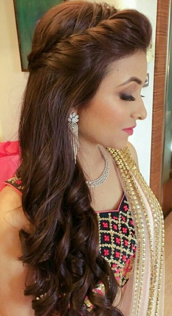 How To Do Make Up By Yourself So Come Beauty Indiandress Cutegirl Bollywood Wedding H Engagement Hairstyles Long Hair Styles Indian Wedding Hairstyles