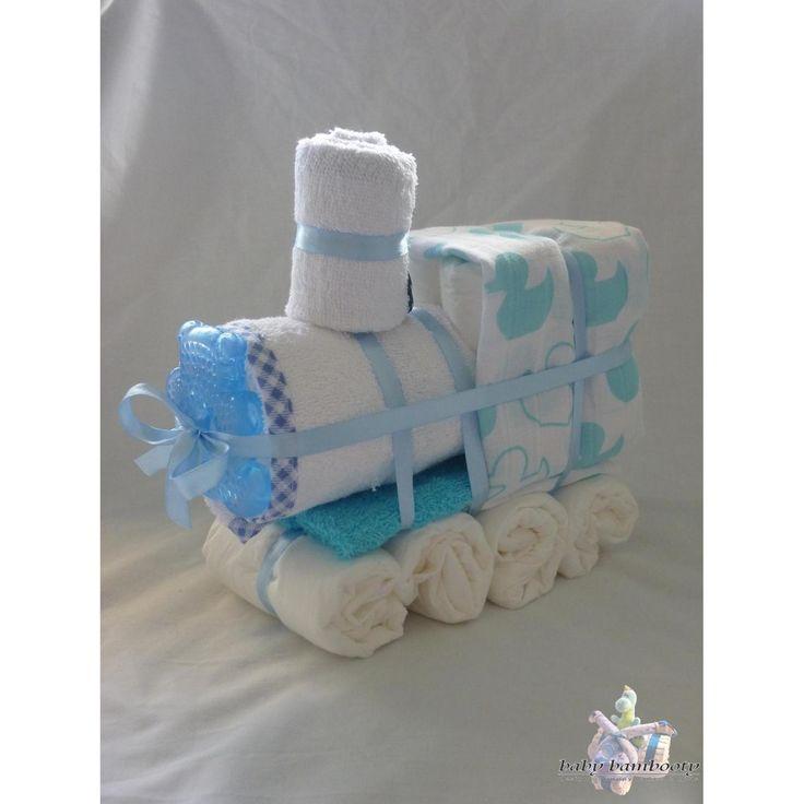 $30.00 Train Nappy Cake by BabyBambooty on Handmade Australia
