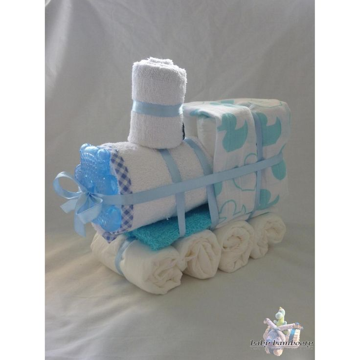 $30.00 Train Nappy Cake by BabyBambooty on Handmade Australia