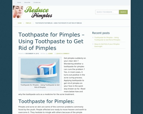 http://www.reducepimples.com/toothpaste-for-pimples-using-toothpaste-to-get-rid-of-pimples.html | Toothpaste for Pimples - Using Toothpaste to Get Rid of Pimples | Wondering whether a toothpaste for pimples can cure the problem? Yes, in most cases, using toothpaste to get rid of pimples turns out positive in the process, try it.