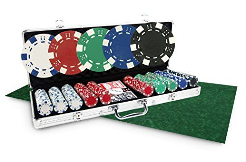Pack Dice 500 jetons + Tapis vert – SOLDES !: Pack de poker incluant 1 mallette de poker Dice de 500 jetons en plastique ABS 11,5g + 1…