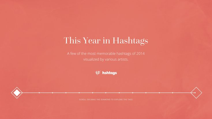 This Year in Hashtags very cool horizontal scroll