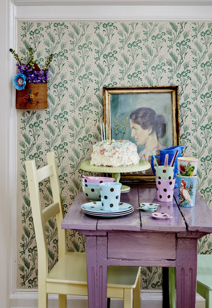 Melamin Pastell mit goldenen Tupfen * Wunderkerzen als Zahlen für den Geburtstag!