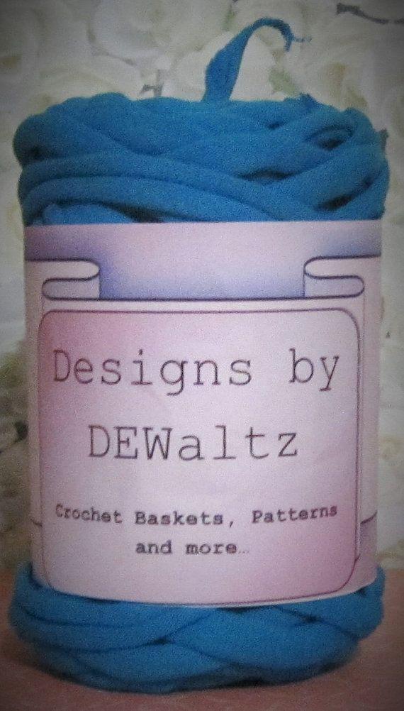 Carribean BlueTrapillo Tee Shirt Yarn from by DesignsbyDEWaltz