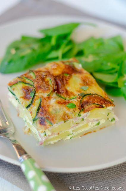 Les+Cocottes+Moelleuses:+La+frittata+aux+courgettes+et+au+chèvre