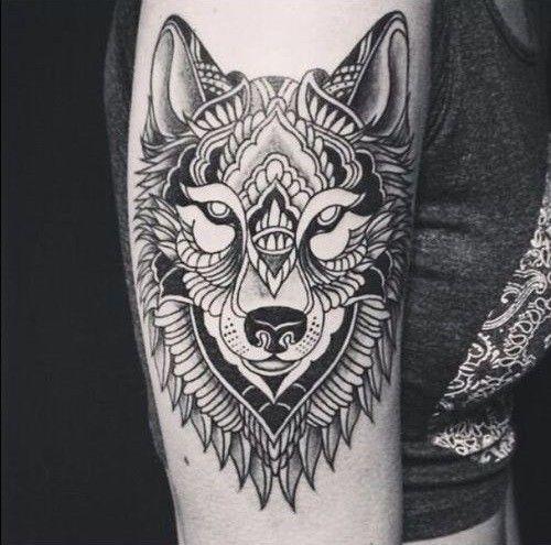 Tatouage tête de loup
