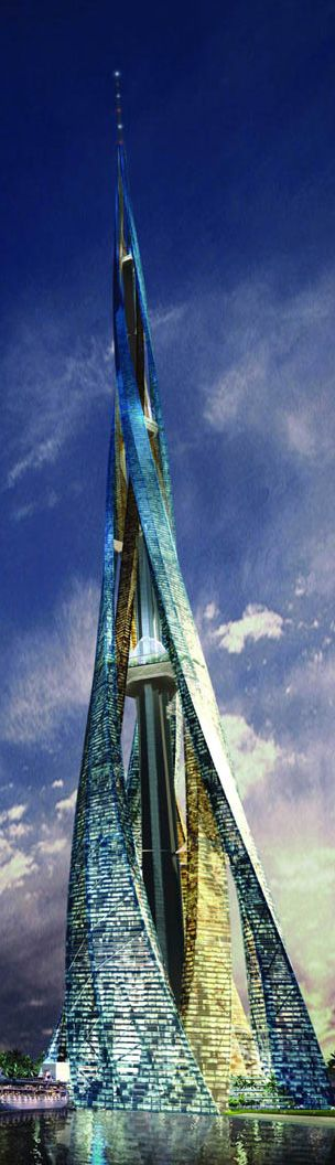 Dubai City Tower/Dubai Vertical City :: 200 floors, height 2400m :: vision