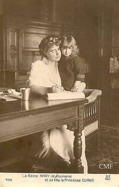 Queen Marie of Romania with her youngest daughter Ileana