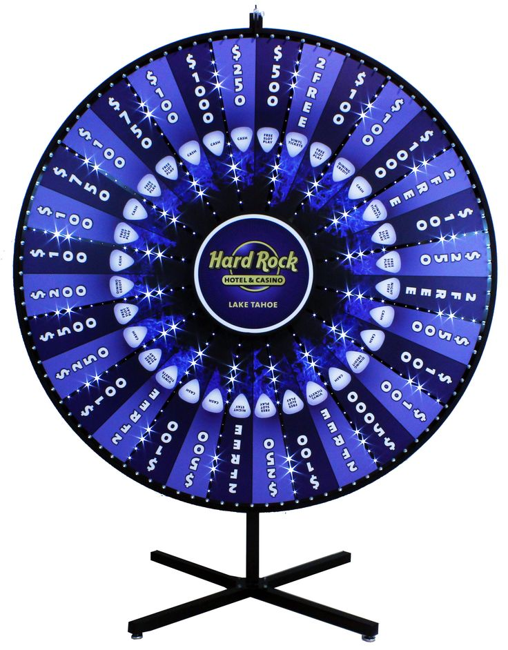 "This is a 72"" Custom Lighed Prize Wheel we did for the Hard Rock Casino in Lake Tahoe!"