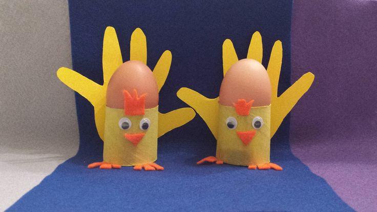 Lavoretti per Pasqua: i Pulcini porta uovo - Easter Crafts: Chicks Egg Holder